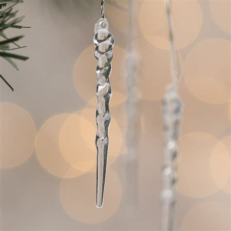 mini clear icicle ornaments christmas miniatures