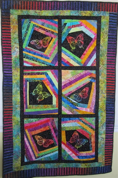 Patchwork Quilts For Children - handmade pathwork quilt for batik butterflies