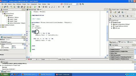 Delphi Tutorial Service Application | learning to program delphi tutorial looping for and