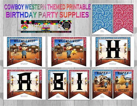 printable cowboy party decorations cowboy western theme party decorations