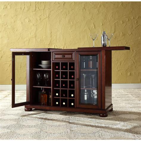 mahogany bar top crosley alexandria mahogany bar with sliding top kf40002ama the home depot