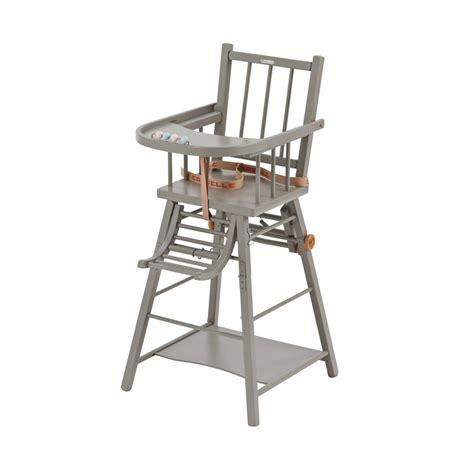 chaise haute bois combelle chaise haute transformable laqu 233 gris clair combelle pour