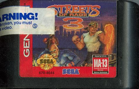 streets of rage 3 genesis streets of rage 3 1994 genesis box cover mobygames