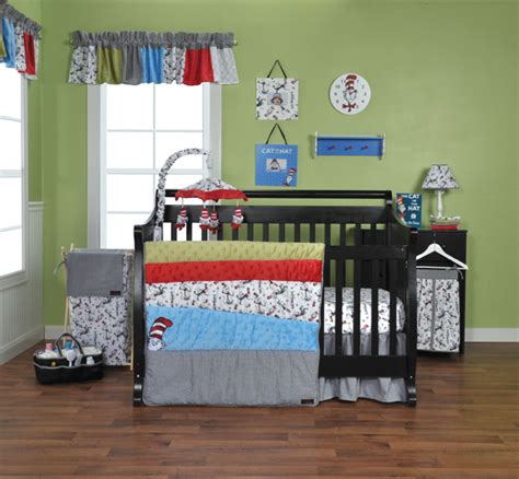 Cat In The Hat Crib Bedding by Trend Lab Dr Seuss Cat In The Hat 3 Crib Bedding
