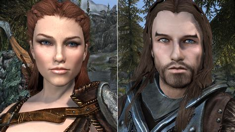 skyrim human hair styles total character makeover at skyrim nexus mods and community