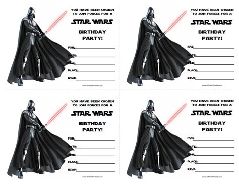 printable star wars invitations star wars birthday invitations free printable