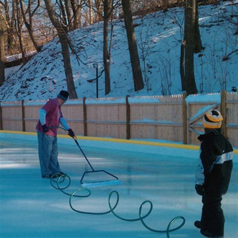 easy backyard ice rink niceice backyard ice rink resurfacer gardenista