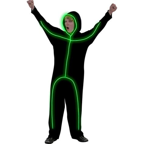 Light Up Stick Figure Costume light up green stick figure costume