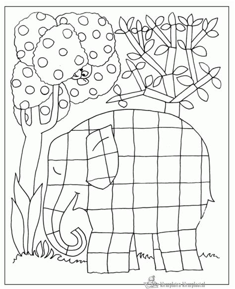 coloring page for elmer the elephant kleurplaten elmer kleurplaten kleurplaat nl