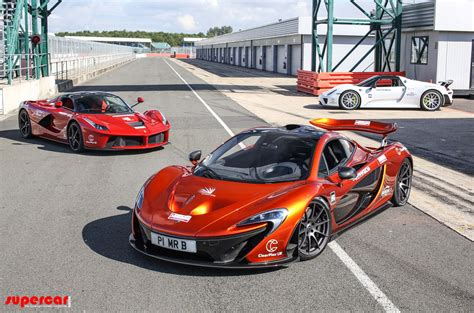 porsche ferrari laferrari p1 and 918 spyder finally tested together video
