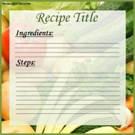 free printable vegetarian recipes 1000 images about recipe card templates on pinterest
