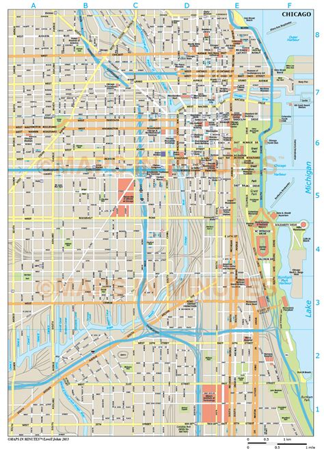 chicago map chicago city map