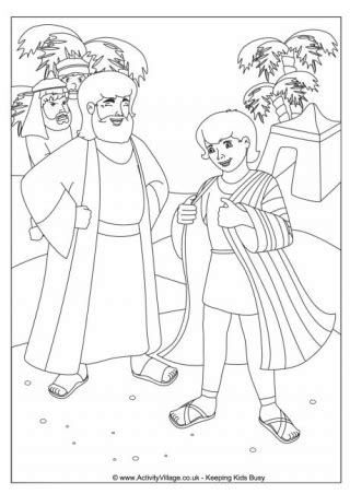 coloring pages joseph s coat bible colouring pages