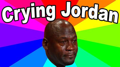 crying jordan meme  history meaning