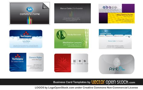Free Air Conditioning Business Card Templates by Business Card Templates Coolvectors
