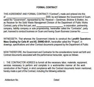 Formal Contract Template sle contractual agreement 5 documents in pdf word