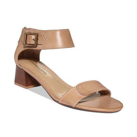 adrienne vittadini sandals adrienne vittadini chambray sandals in beige bone lyst