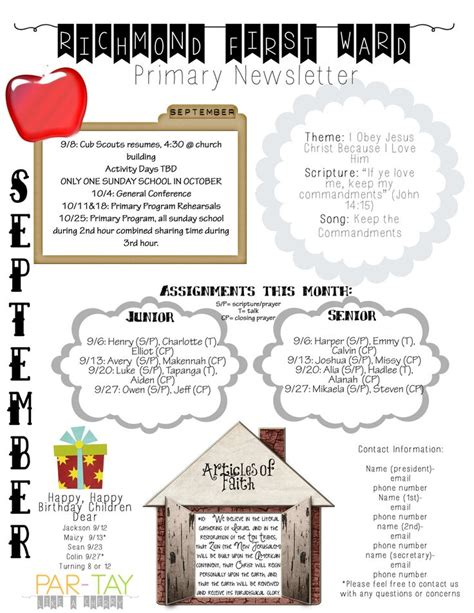 1000 ideas about monthly newsletter template on newsletter template free preschool