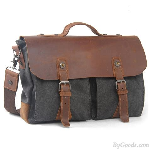 Fashionable Leather Retro Splicing Black - retro large thick canvas splicing real leather flap