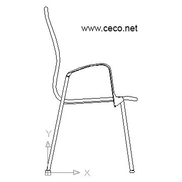 chair side view drawing dxf file furniture decoration access