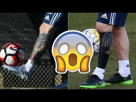 messi watch tattoo leo messi leg tattoos transformation youtube