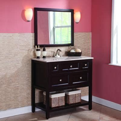 36 Bathroom Vanity Combo St Paul Ashland 36 Inch Combo With Effects Vanity Top And Wall Mirror In Chocolate