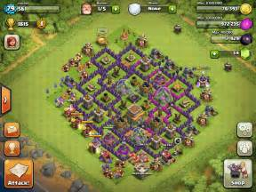 Clash of clans defense layout town hall 7 hd image download