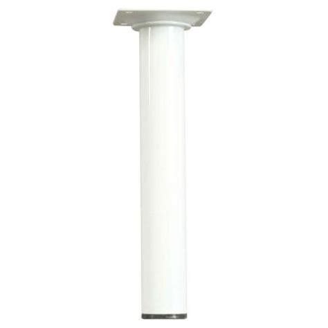 waddell 8 in x 1 1 8 in white metal table leg