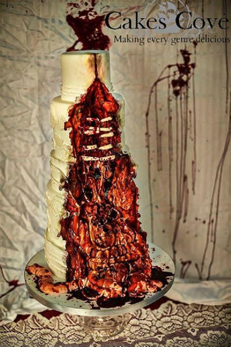 gruesome wedding cakes zombie guts