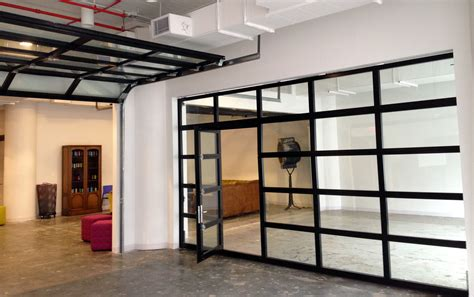 Glass Overhead Door 1st Floor Flex Space Glass Wall Option Clear Glass Garage Doors With Passing Door Re Pt