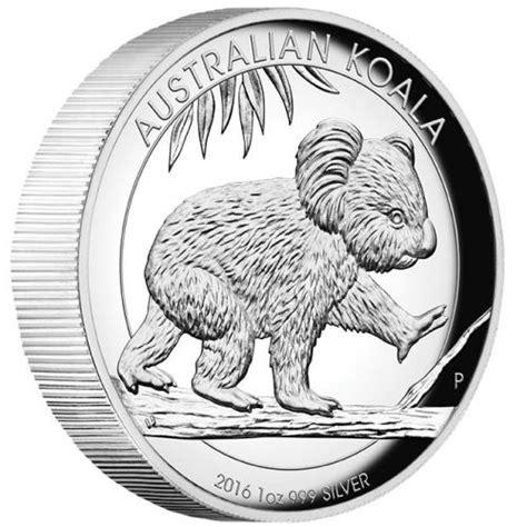 Australian Koala Silver Coin 2016 australian koala 2016 1oz silver proof high relief coin the perth mint