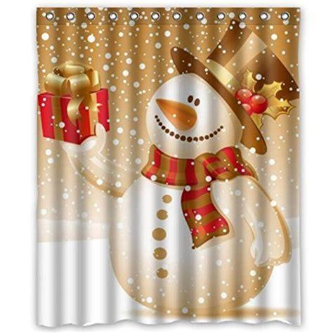 christmas shower curtain sets snowman shower curtain sets comfy christmas