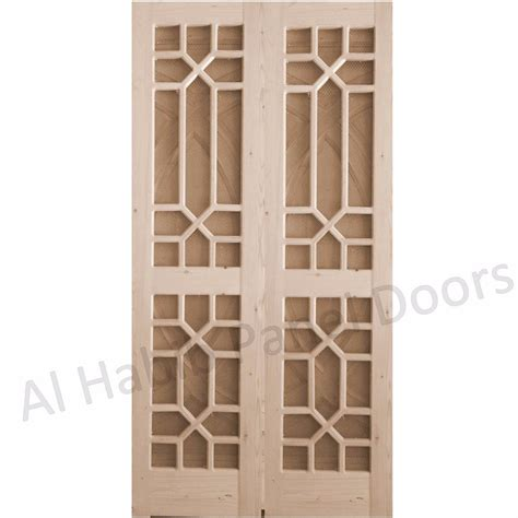Wood Panel Windows Designs Wood Wire Mesh Door Hpd165 Mesh Panel Doors Al Habib Panel Doors