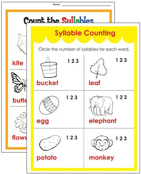 chsh teach syllable resources worksheets