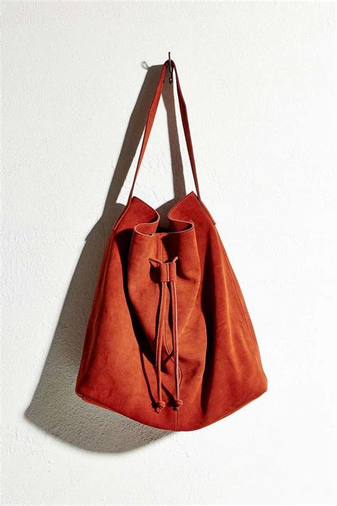 Outfitters Turquoise Suede Bag by Ecote Suede Drawstring Tote Bag Outfitters