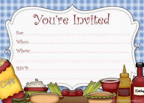 bbq invitations templates free picnic invitation template best template collection