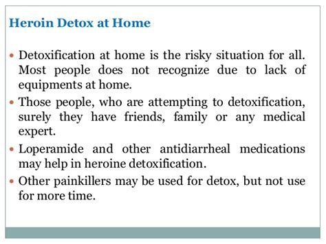 heroin detox symptoms side effects recovery