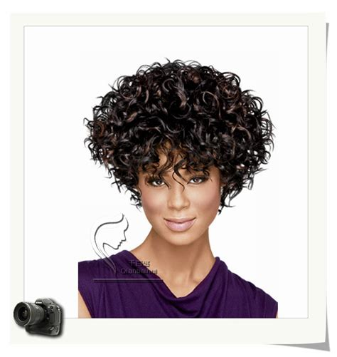 kinky curly short weaves for black woman african american beautiful wigs synthetic fiber short afro