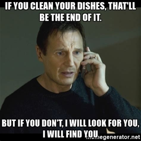 Meme Dishes - wash your own dishes memes