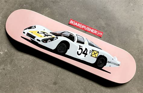 Handcrafted Skateboards - featured deck of the week 68 porsche 907 longtail by