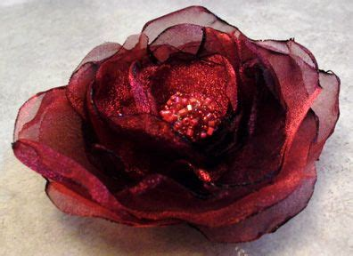 organza roses tutorial hand made organza fabric flower how to diy frugal craft