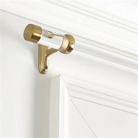 lucite curtain rod acrylic drapery hardware ballard designs