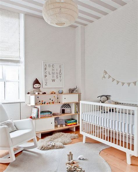 Playful And Simple Beige Nursery Ideas Baby Room Ideas Simple Nursery Decorating Ideas