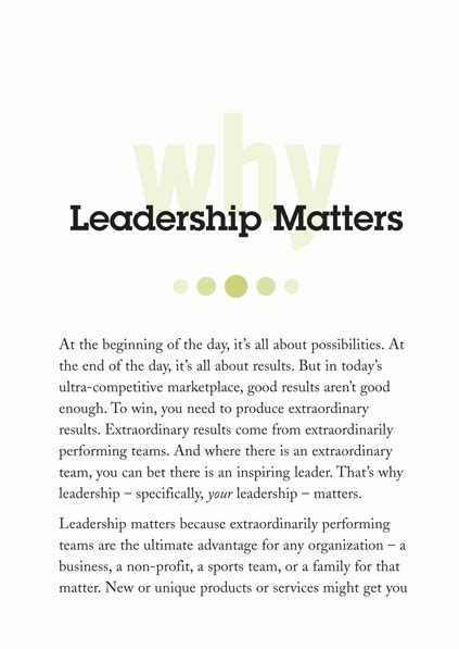 results revolution achieving what matters most your team your company your books leadership matters daily insights to inspire