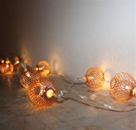 mesh lights copper mesh lights by the forest co