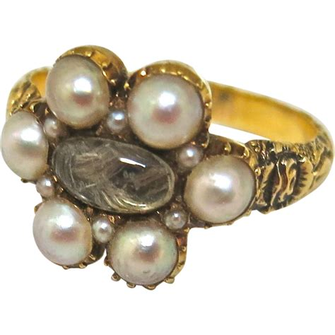 antique georgian mourning ring from thepearl on
