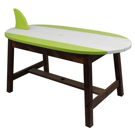 surfboard bench teamson winland surfboard outdoor table and bench set