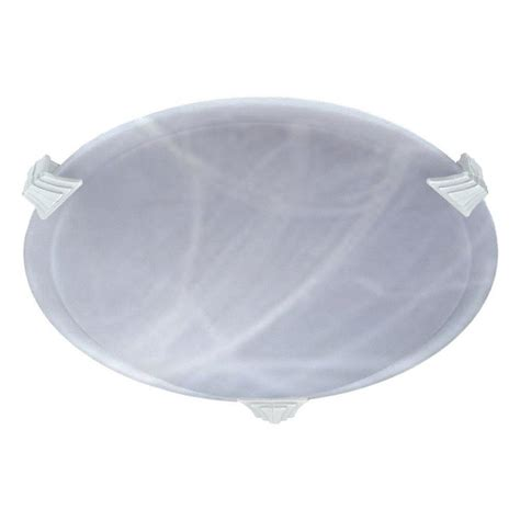 illumine 1 light white halogen ceiling