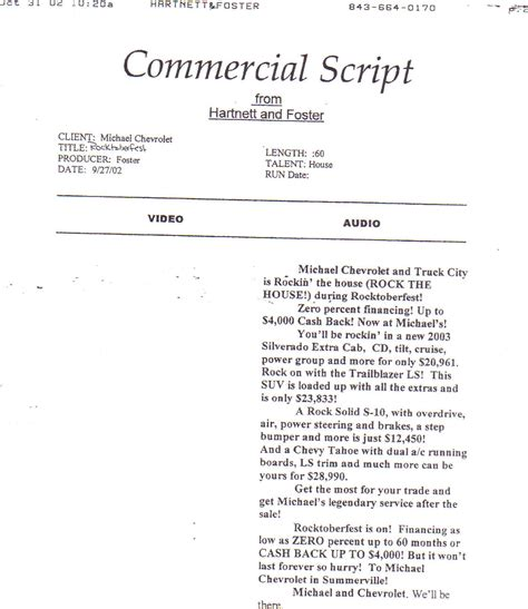 tv commercial script template sle radio ads evolist co