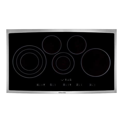 stainless steel cooktop electric electrolux 36 in smooth surface electric cooktop in